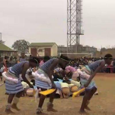 Children dance at Tshigombela practice
